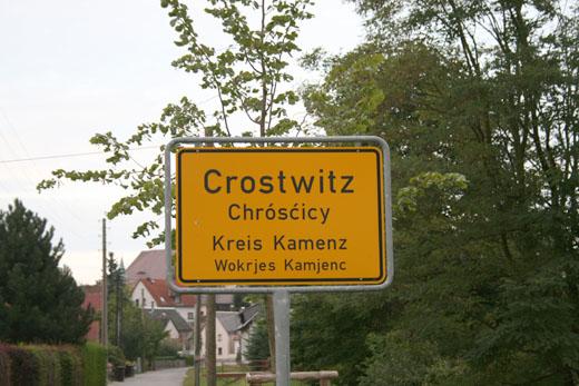 Crostwitz Ortseingangsschild